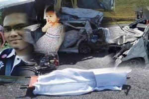 Gambar Dua Beranak Yang Maut Dalam Kemalangan 16 Kenderaan