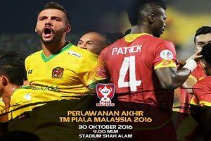 Siaran Langsung Live Streaming Keputusan Selangor VS Kedah 30.10.2016