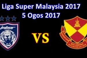 Keputusan JDT vs Selangor 5 ogos 2017