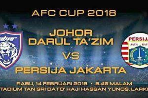 JDT vs Persija Jakarta